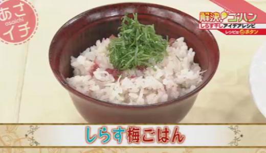 【健康レシピ】カルシウムとビタミンDたっぷり!しらす干しの料理2品(NHKあさイチ)